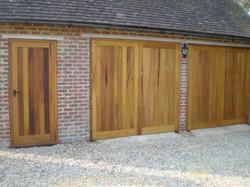 Iroko garage doors