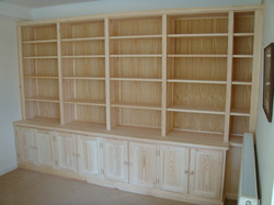 Softwood bookcase with storage
