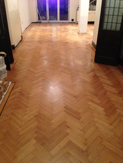Restored and expanded parquet floor