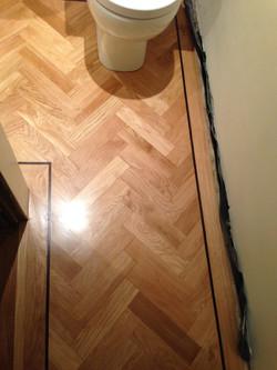 New parquet flooring to match in
