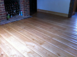 Worn effect oak flooring