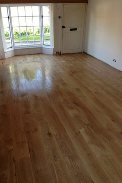 Solid Oak floor with a clear coat