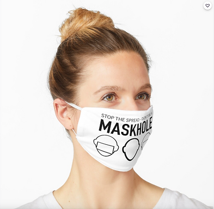 Don't be a Maskhole at Redbubble