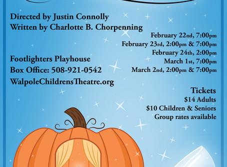Proud to Support Walpole Children's Theatre - Cinderella