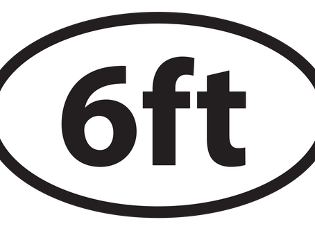 6ft Social Distance Sticker at Redbubble