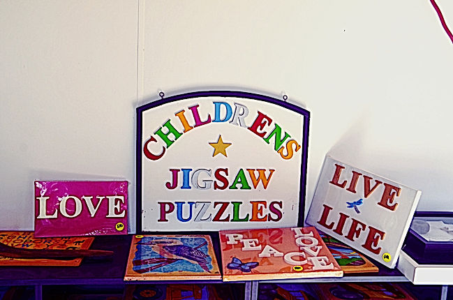 Products that can be purchased at Puzzles on Yabba