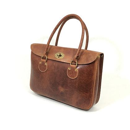 Half flap briefcase