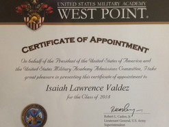 UmattR Teen Receives Certificate of Appointment from West Point Military Academy