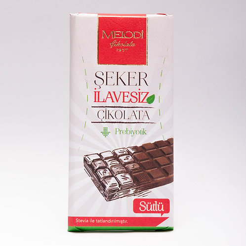 Şeker İlavesiz Prebiyotik Sütlü Çikolata