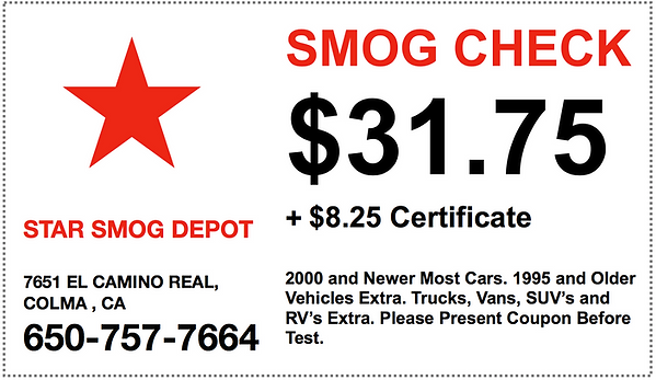 smog test deals, smog test coupons, smog check deals, smog check coupons