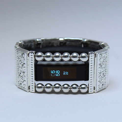 FitBit® Alta Band Cover Bracelet: Bright Silver Lallybroch with Wind