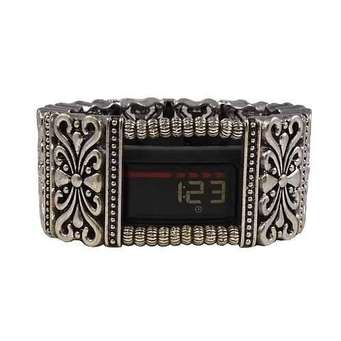 Garmin® VivoFit 1, 2 and 3 Bracelet: Hyde Scroll in Silver with Window