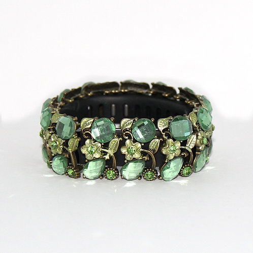FitBit® Flex and Flex 2 Bracelet: Soft Green Crystals and Flowers