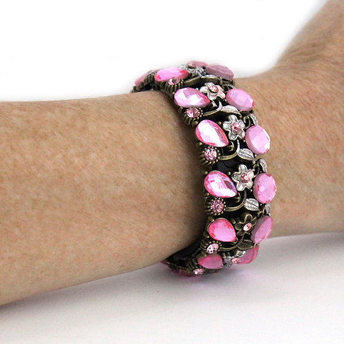 FitBit® Flex and Flex 2 Cover Bracelet: Rosebud Crystals and Flowers