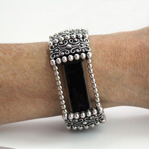 FitBit® Alta Cover Bracelet: Antique Silver Sandringham Moor with Window