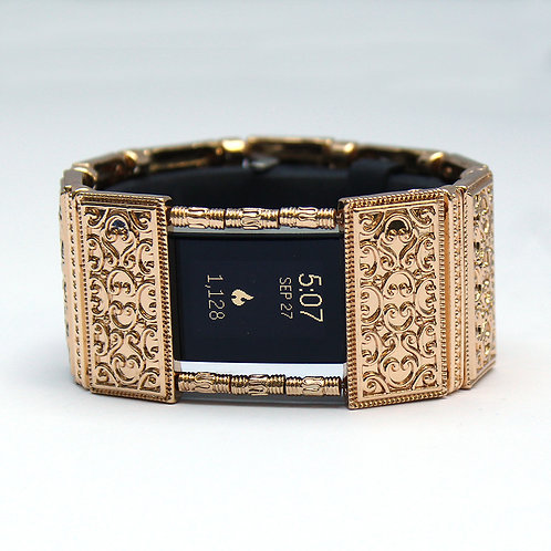 FitBit® Charge 2 Band Cover Bracelet: Gold Lallybroch with Window