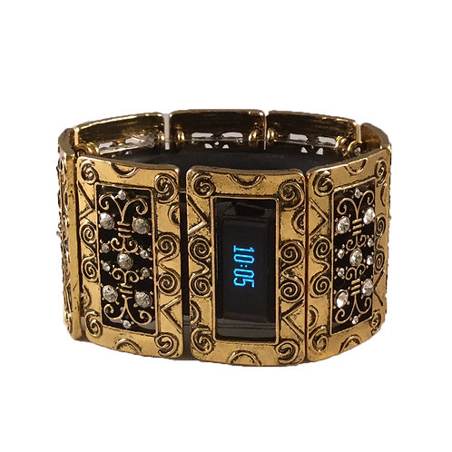 FitBit® Charge and Charge HR Bracelet: Claire's Curls in Gold with Window