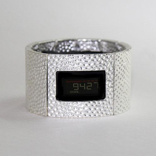 Garmin® VivoFit 1, 2 & 3 Cover Bracelet: Hammersmith in Matte Silver with Window