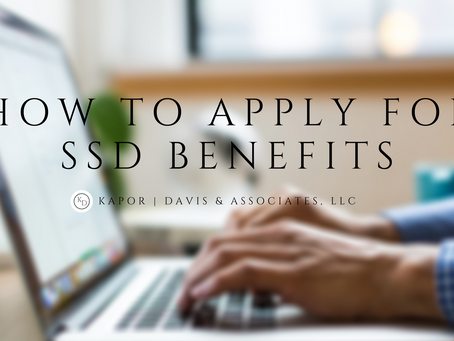 How to Apply For SSD Benefits