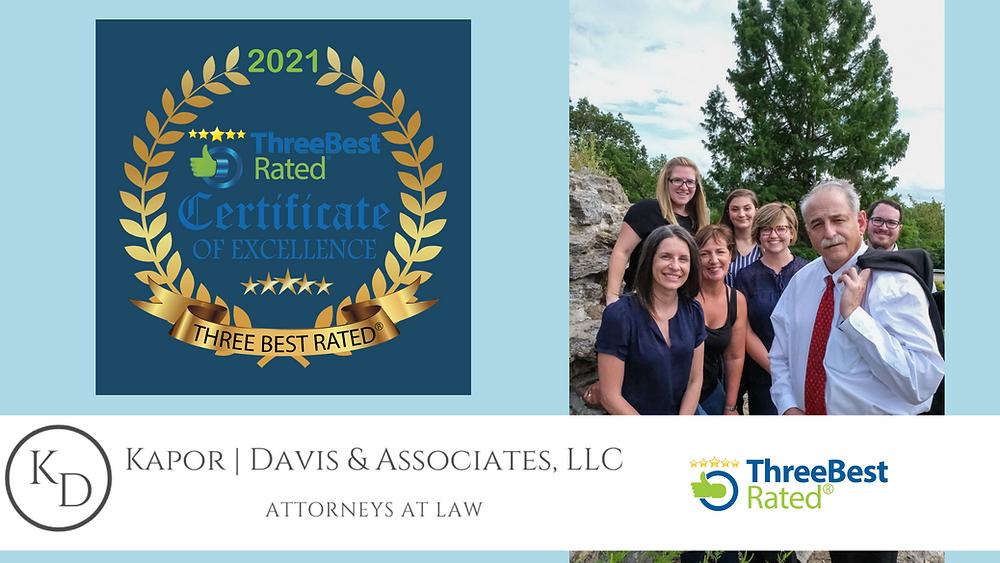 Image of Kapor Davis team for top 3 best rated social security disability attorneys in Cincinnati.