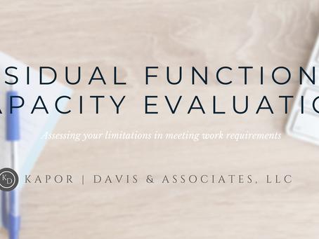 Residual Functional Capacity Evaluation