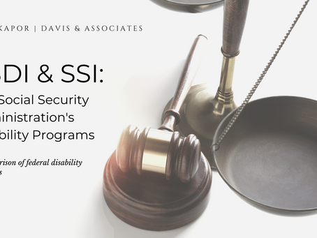 SSDI and SSI: Social Security Disability Programs