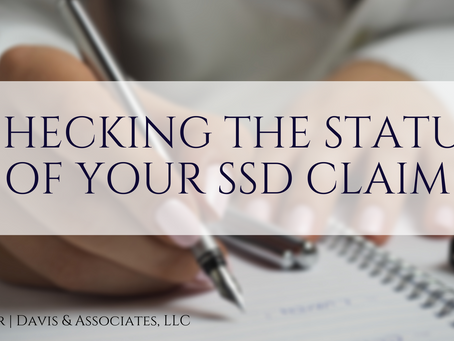 Checking Your SSD Claim Status