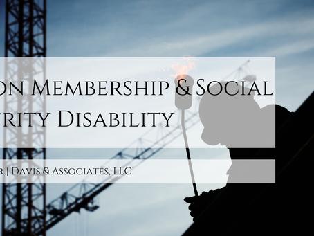Union Membership & Social Security Disability
