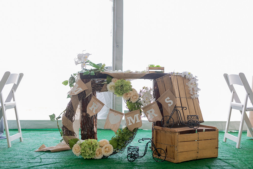 DIY sweetheart table setup at a reception in San Francisco