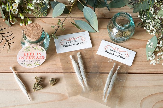 Cannabis-friendly weddings are on the rise.