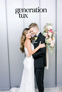 Bride & Groom embracing happily, elated about GenTux