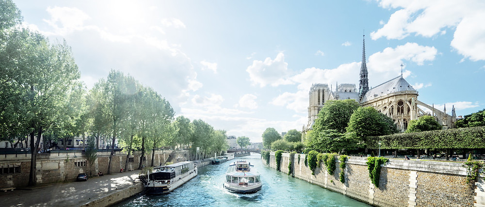 European theme river cruises with views of town all around