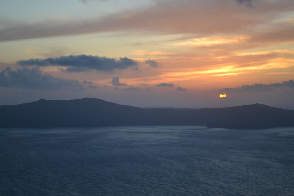Santorini destination at sunset