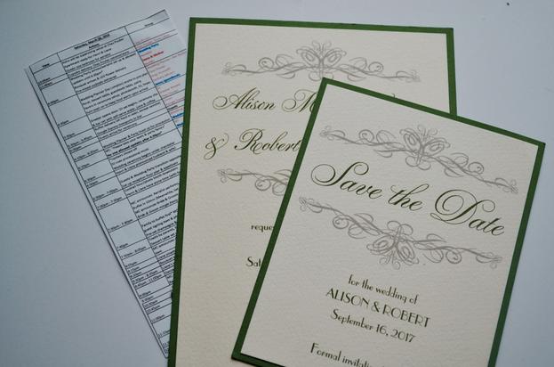 Invitation & wedding day timeline