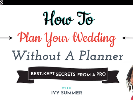 Plan Your Wedding Without A Planner