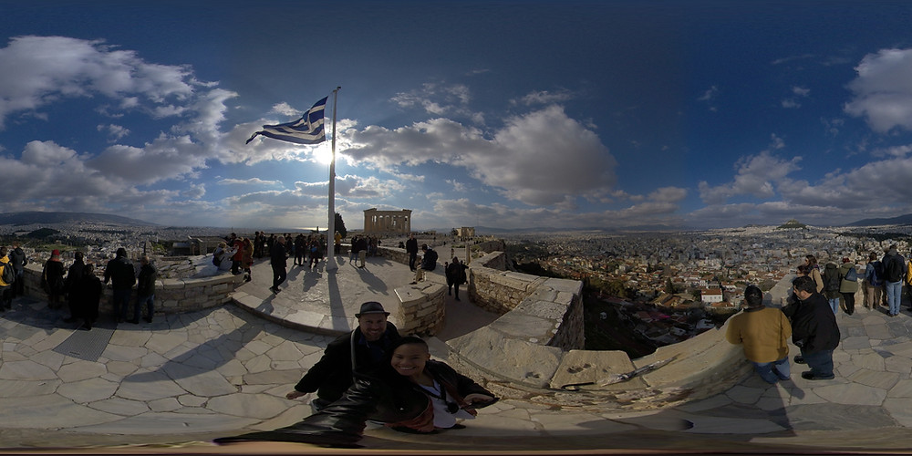 #MrandMsAdventure on top of the world (at the Parthenon)