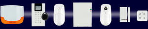 Sirène, clavier, détecteur, centrale, badge, détection ouverture RISCO
