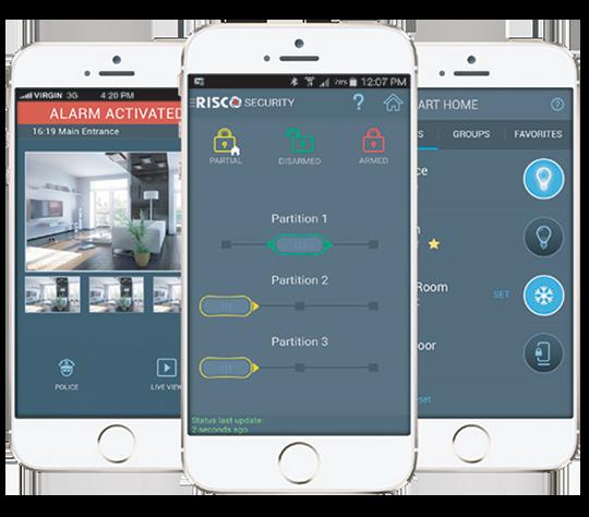 Application RiscoCloud iRisco alarme