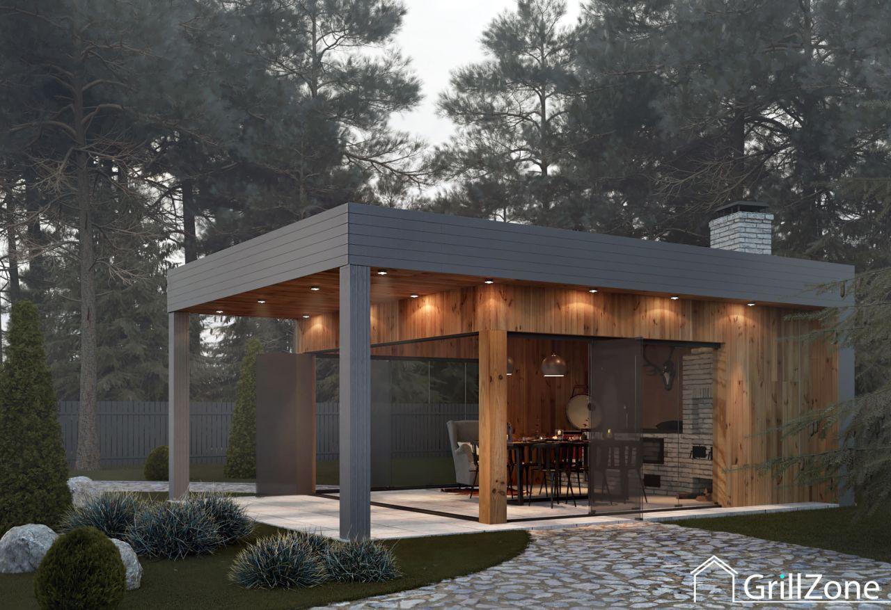 Дизайн-проект летней кухни