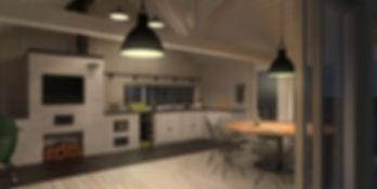 Летняя кухня-барбекю Grillzone Avignon вид внутри
