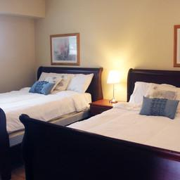 Apartment Suite. Badroom with 2 queen beds.