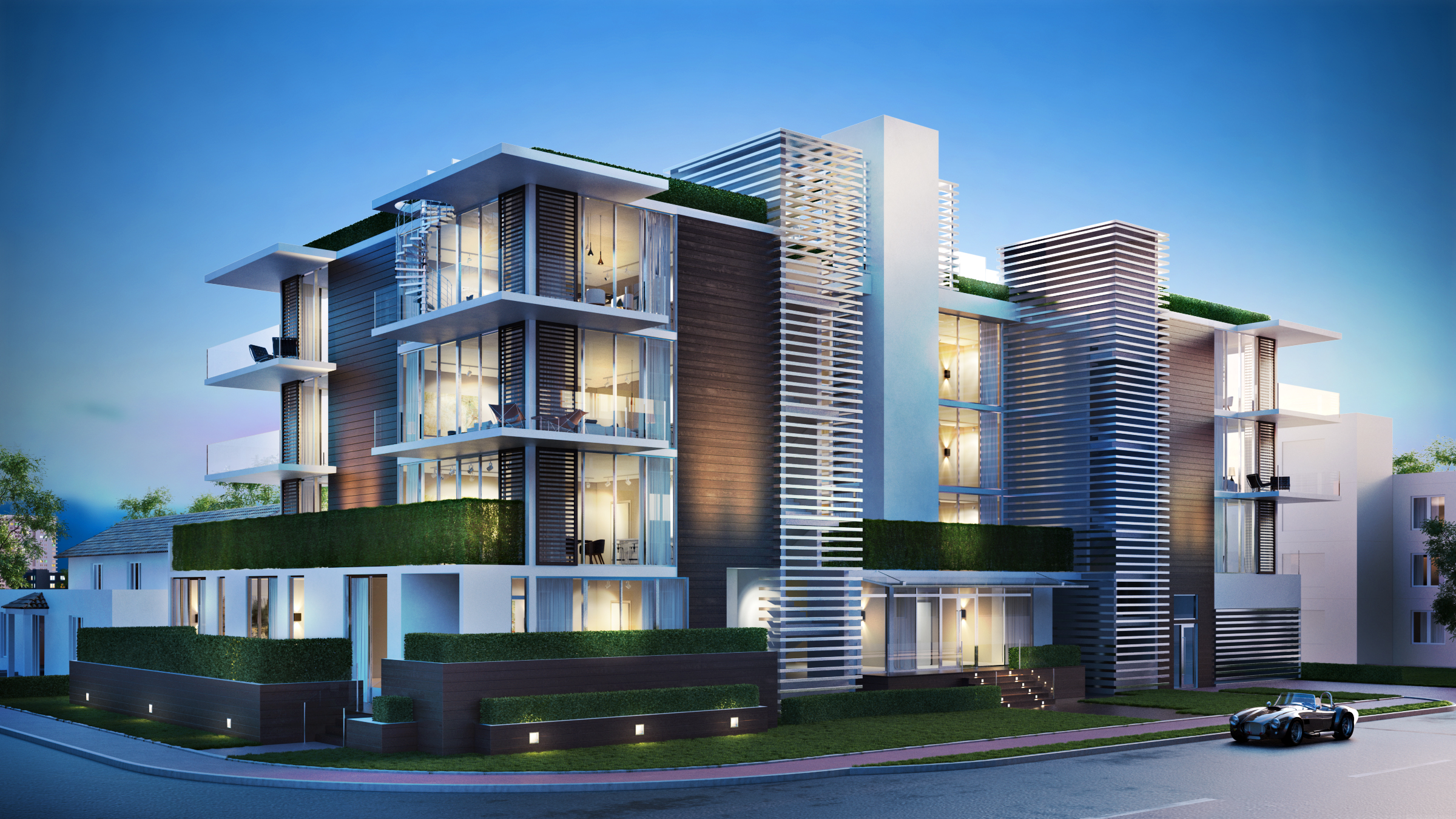 3D Rendering Miami Beach West Avenue