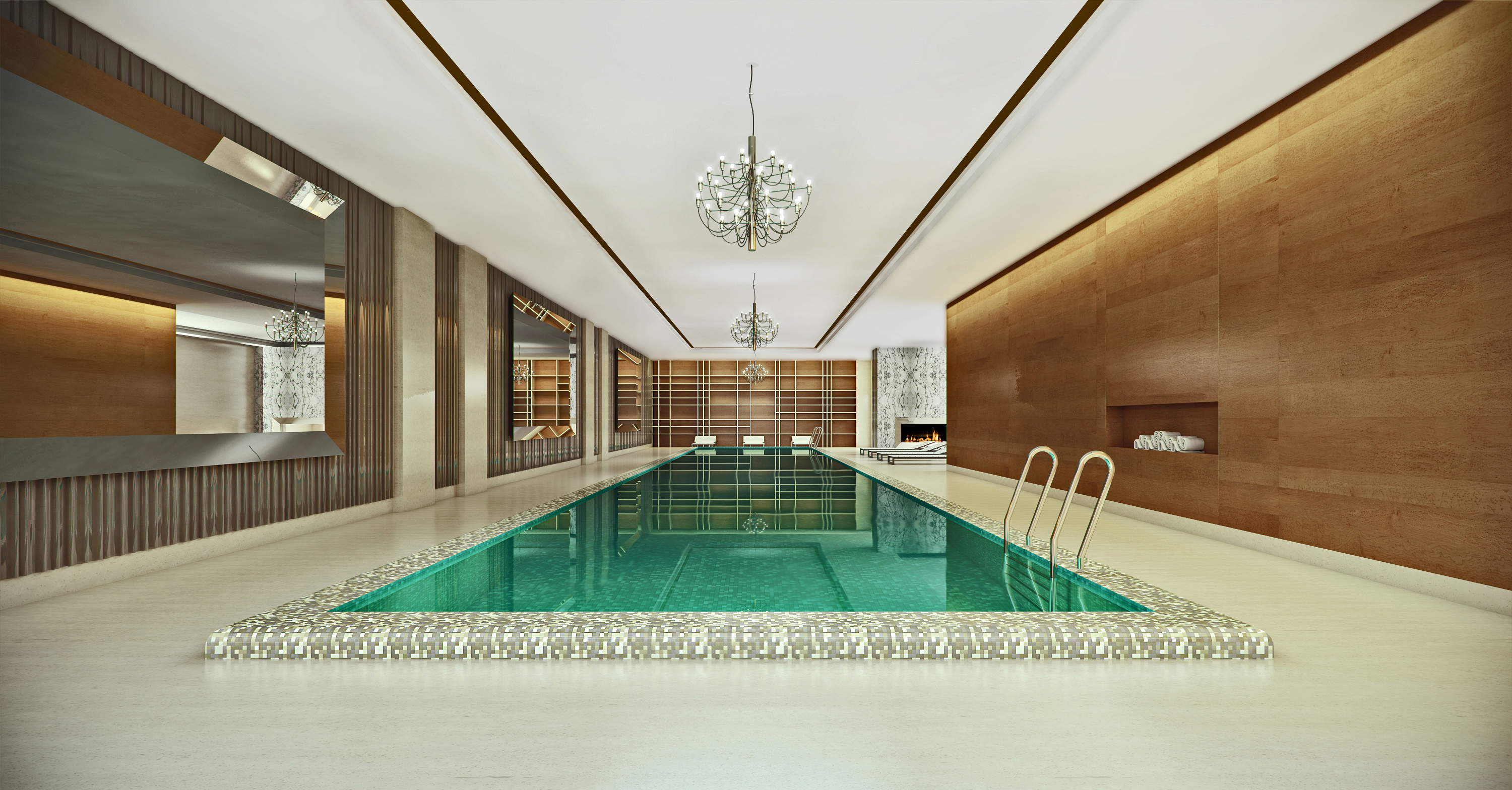 Pool & Spa New York 3D Rendering