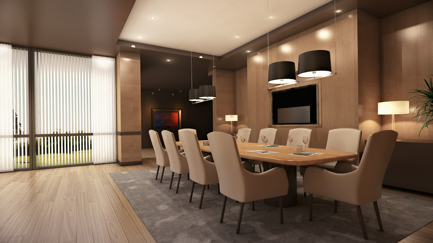 Conference Room New York 3D Renderin