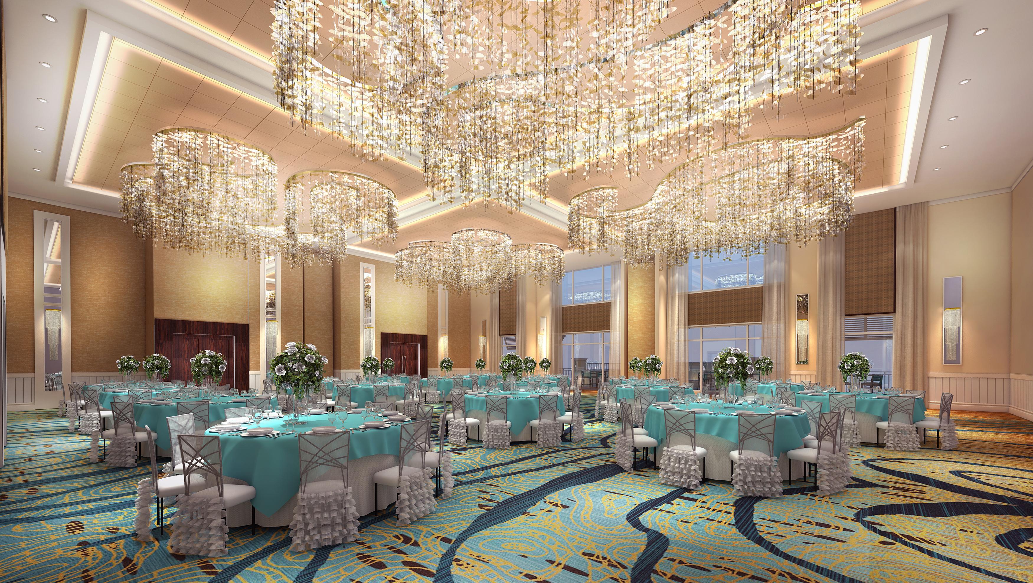 Hotel Ballroom 3D Rendering Miami