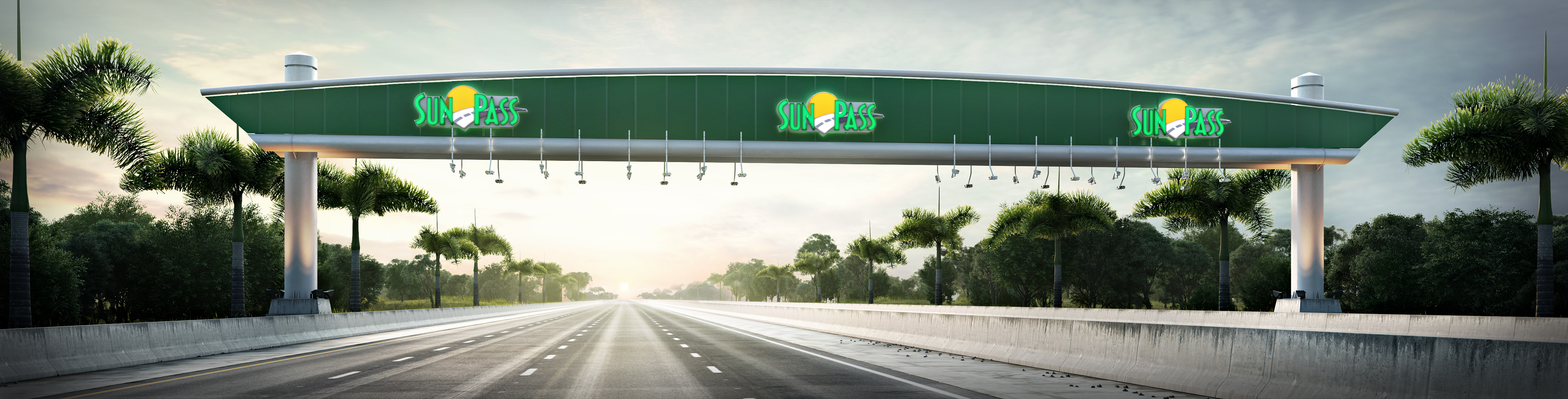 Sunpass Gantry Miami Renderings