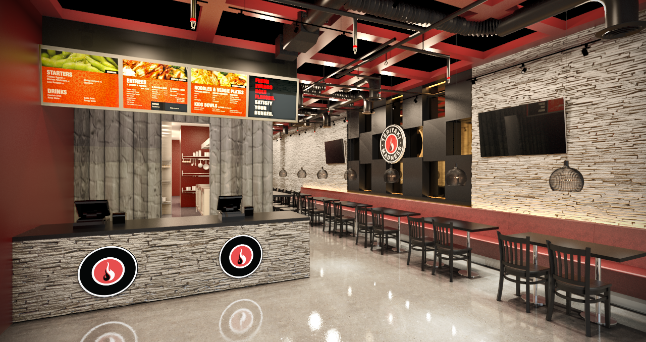 Miami Beach Restaurant 3D Rendering
