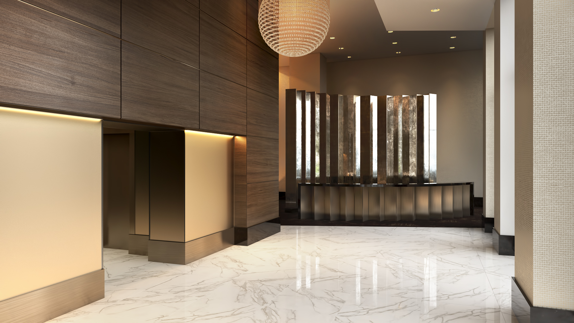 3D Rendering Miami Plaza Brickell