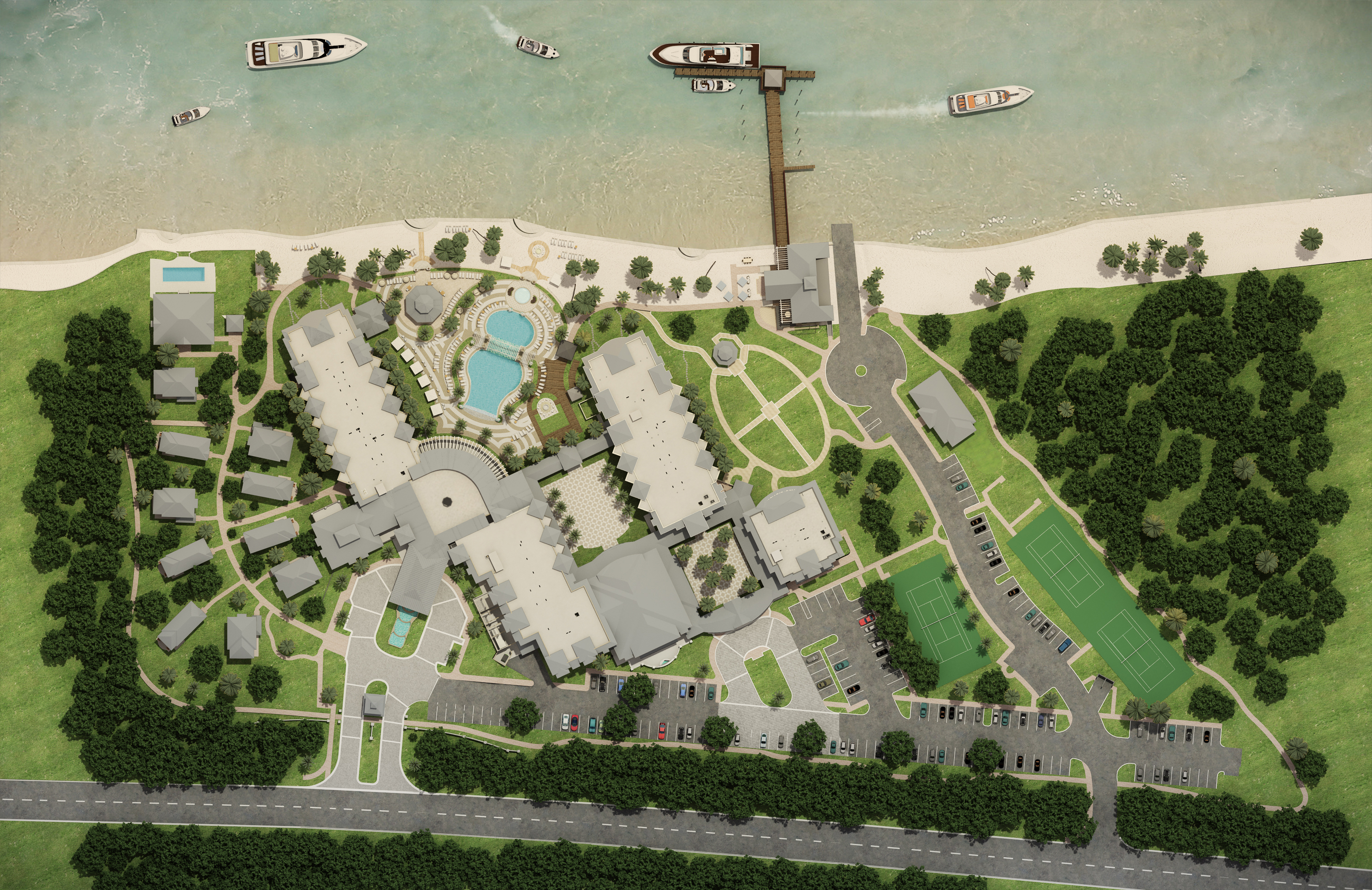 3D Site Plan Rendering Miami