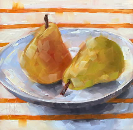 Pears, White Plate